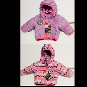 Baby North Face Reversible Perrito Jacket 0-3 Mos.